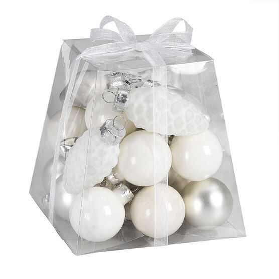 Christmas Candy Box Ornaments - White/Silver