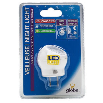 Globe LED Directional Night Light