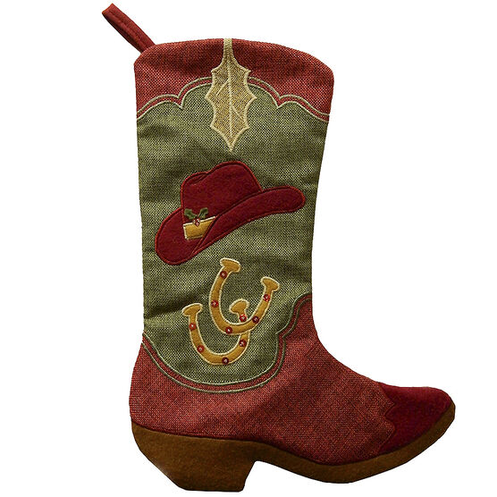 Christmas Forever Stocking - Cowboy Boot