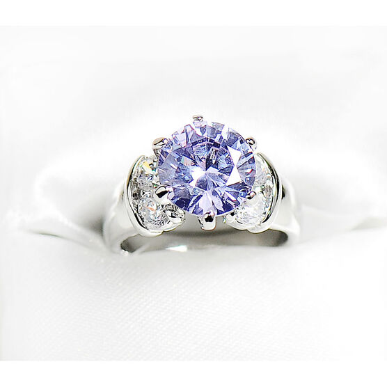 Marca Amy Clear Cubic Zirconia Ring - Size 9