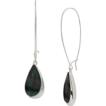 Robert Lee Morris Shepherd Hook Earrings - Crystal/Silver