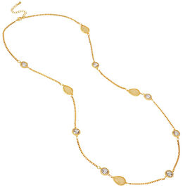 Haskell Spaced Bead Necklace - Neutral/Gold