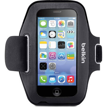 Belkin Sport-Fit Armband for iPhone 5/5s/5c and iPod 5th Gen - Blacktop/Overcast - F8W367BTC00