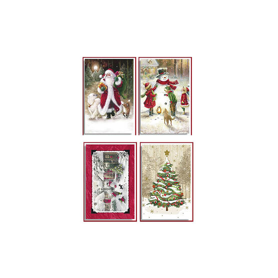 American Greetings Deluxe Christmas Cards - Traditional - 14 count - Assorted
