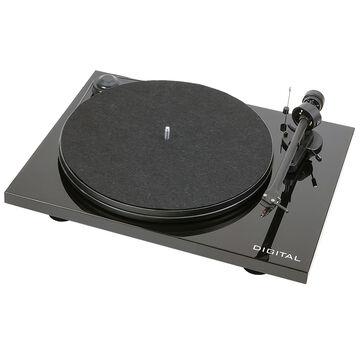 Pro-Ject Essential II Digital OM5E Piano with Pre-Amp/USB/Optical - Gloss Black  - PJ65187650