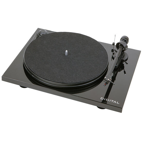 Pro-Ject Essential II Digital OM5E Piano with Pre-Amp/USB/Optical - Gloss Black  - PJ65187650