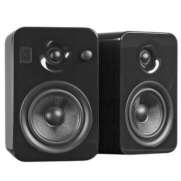 Kanto YUMI Powered Bookshelf Speakers - Pair - Gloss Black