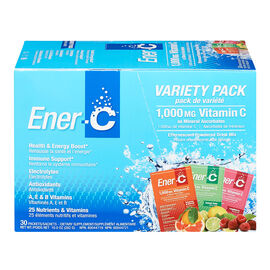 Ener-C Vitamin C Powered Drink Mix - 1000mg - Variety Pack - 30's