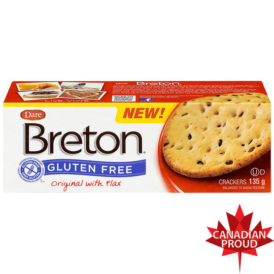 Breton Gluten Free Crackers - Original with Flax - 135g