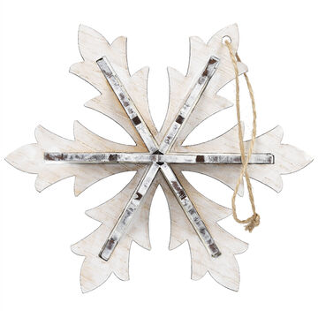 Winter Wishes Snowflake Ornament - 3.5 inch