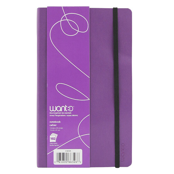 Want Notebook - Purple - 192 sheets