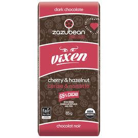 Zazubean Vixen Dark Chocolate Bar - Cherry & Hazelnut - 85g
