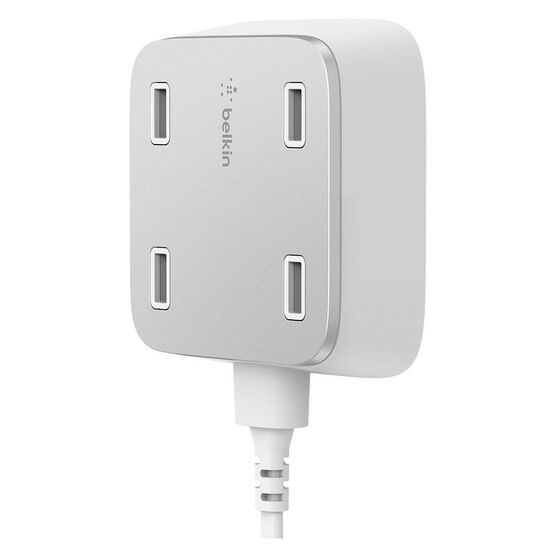 Belkin Family Rockstar 4-Port USB Charger - White - F8M990TTWHT