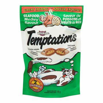Whiskas Temptations Treats for Cats - Seafood Medley - 85g