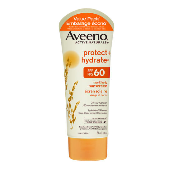 Aveeno Protect + Hydrate Face & Body Sunscreen - SPF 60 - 2 x 81ml