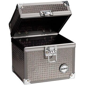 London Soho New York Glam Beauty Case - Silver