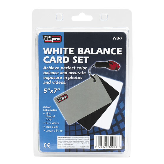 Vidpro White Balance Cards - Gray/Black/White - WB-7