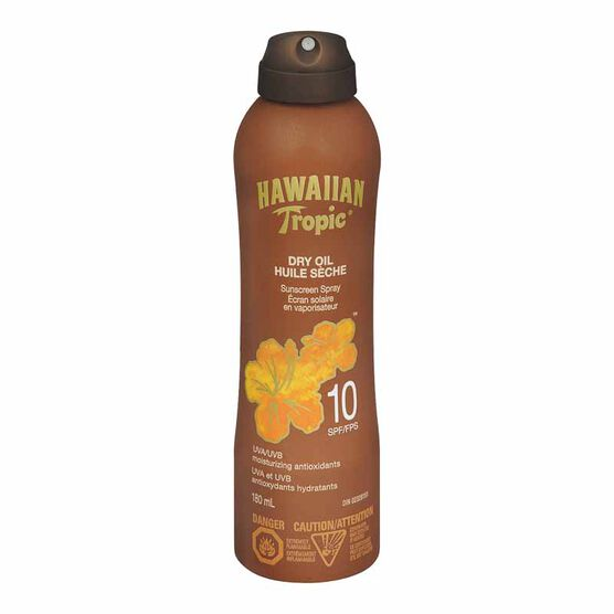 Hawaiian Tropic Dry Oil Sunscreen Spray - SPF 10 - 180ml