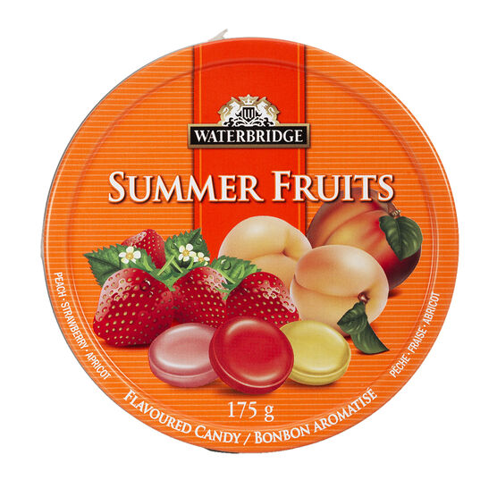 Waterbridge Summer Fruits Flavoured Candy Tin - 175g