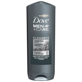 Dove Men+Care Elements Charcoal & Clay Body and Face Wash - 400ml