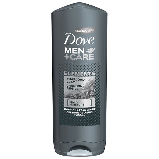 dove men care elements charcoal amp clay body and face wash