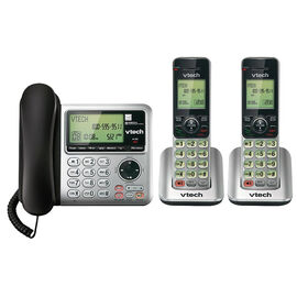 Vtech 2 Handset Answering System with Caller ID/Call Waiting - Silver - CS66492