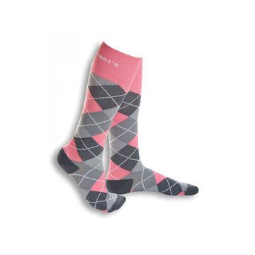 Dr. Segal's Women's Argyle Energy Socks - 5-7 - Pink Gray
