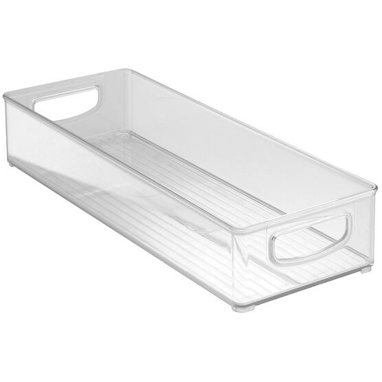 InterDesign Kitchen Storage Bin - Clear - 15.24 x 40.64 x 7.62cm