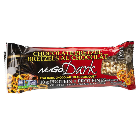 NuGo Dark Chocolate Protein Bar - Chocolate Pretzel - 50g