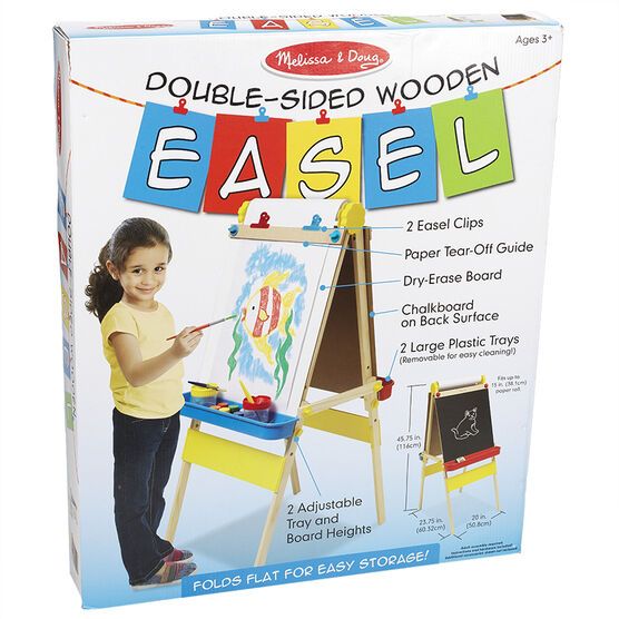 Melissa & Doug - Double-Sided Wooden Easel