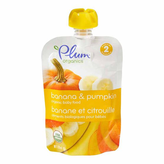Plum Organics - Pumpkin and Banana - 128ml