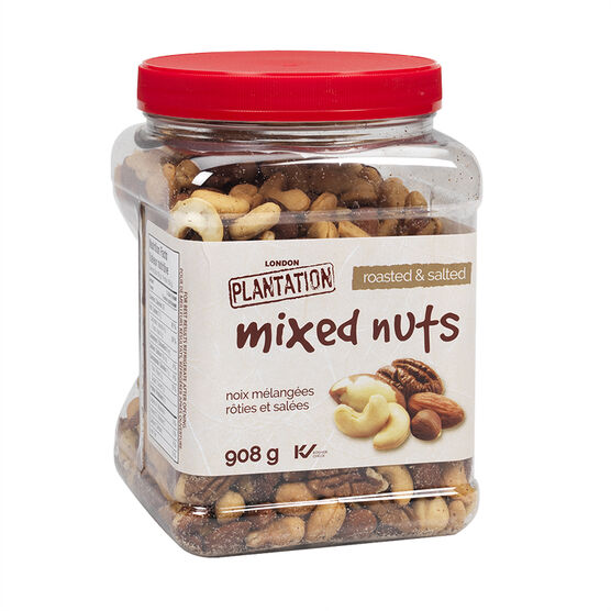 London Plantation Mixed Nuts - Roasted & Salted - 908g