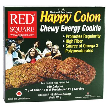 Red Square Happy Colon Cookie - 8 pack - 650g
