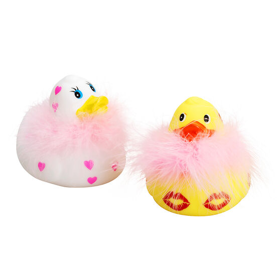 Valentine's Duck with Feather Boa - 3inch - Assorted