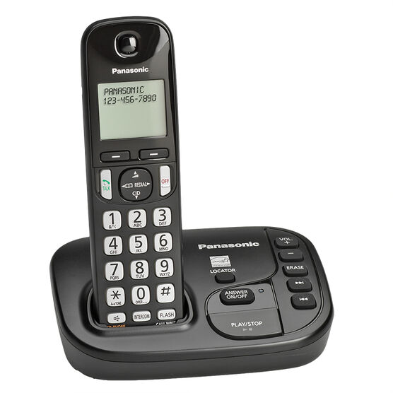 Panasonic Expandable Digital Cordless Answering System with 1 Handset - KX-TGD220B