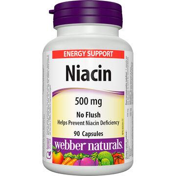 Webber Naturals No Flush Niacin 500mg - 90's