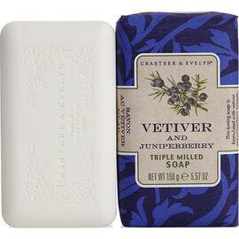 Crabtree & Evelyn Vetiver & Juniperberry Triple Milled Soap - 158g