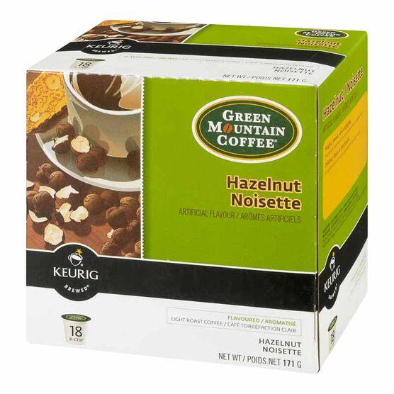 Keurig K-Cup Green Mountain Coffee Pods - Hazelnut - 18's