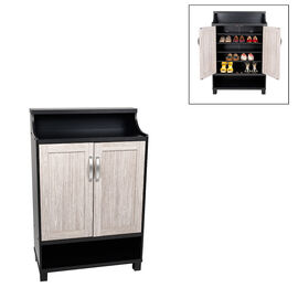 London Drugs Victoria Shoe Cabinet - Black/Grey - VK91