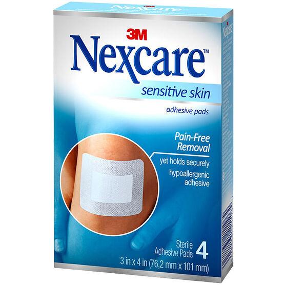 Nexcare Sensitive Skin Adhesive Pads - 4's