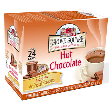 Grove Square Single Cup Hot Chocolate - Mocha - 24's