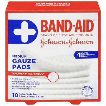 Johnson & Johnson Band-Aid Gauze Pad - 7.6 x 7.6cm