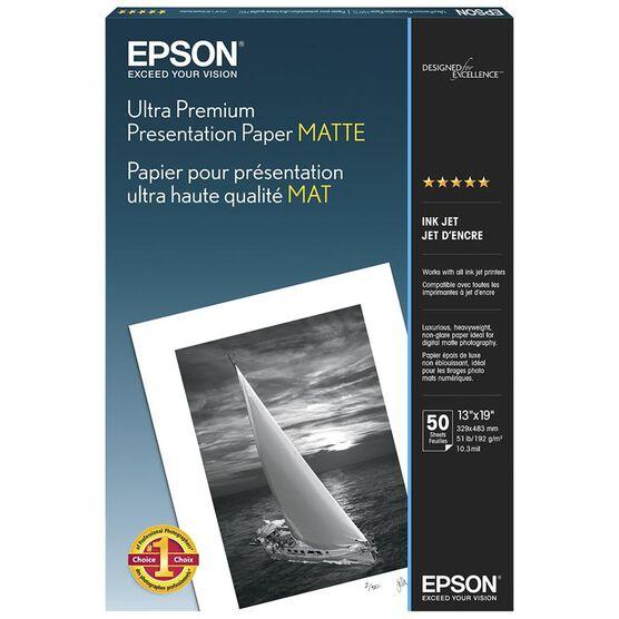 Epson Ultra Premium Presentation Paper - Matte - 13 x 19inch - 50 sheets - S041339