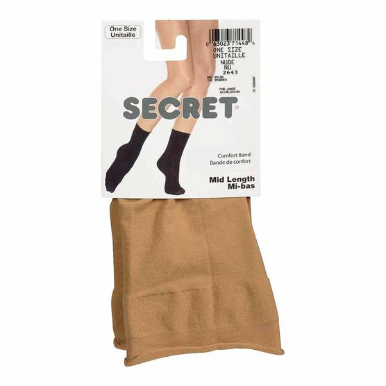 Secret Mid Length Comfort Band Socks - Nude