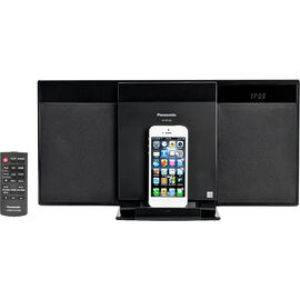 Panasonic iPhone/CD Micro System - Black - SCHC28