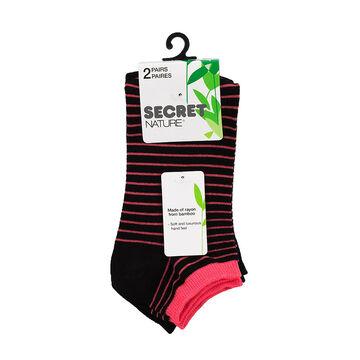 Secret Nature Low Cut Sock - Black - 2 pair