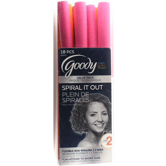 Goody Spiral It Out Flexible Rod Rollers - 18's