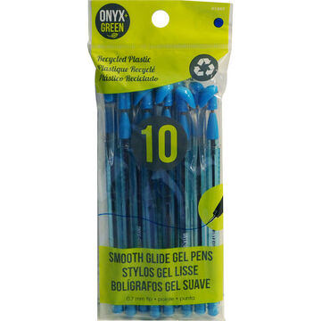 Onyx Green Gel Pens - Blue - 10 pack