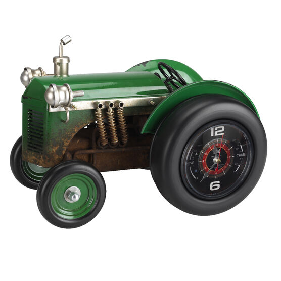 London Drugs Metal Tractor Clock - Green