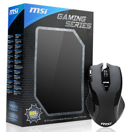 MSI W8 Gaming Series 5600DPI Wired Laser Sensor Mouse